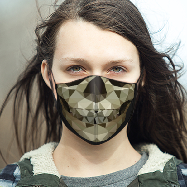 LIFESTYLE LADIES FRACMENTED SKULL MASK