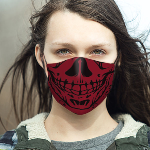 LIFESTYLE-Ladies-Skull-RED-Mask