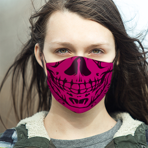 LIFESTYLE Ladies Skull Pink Mask